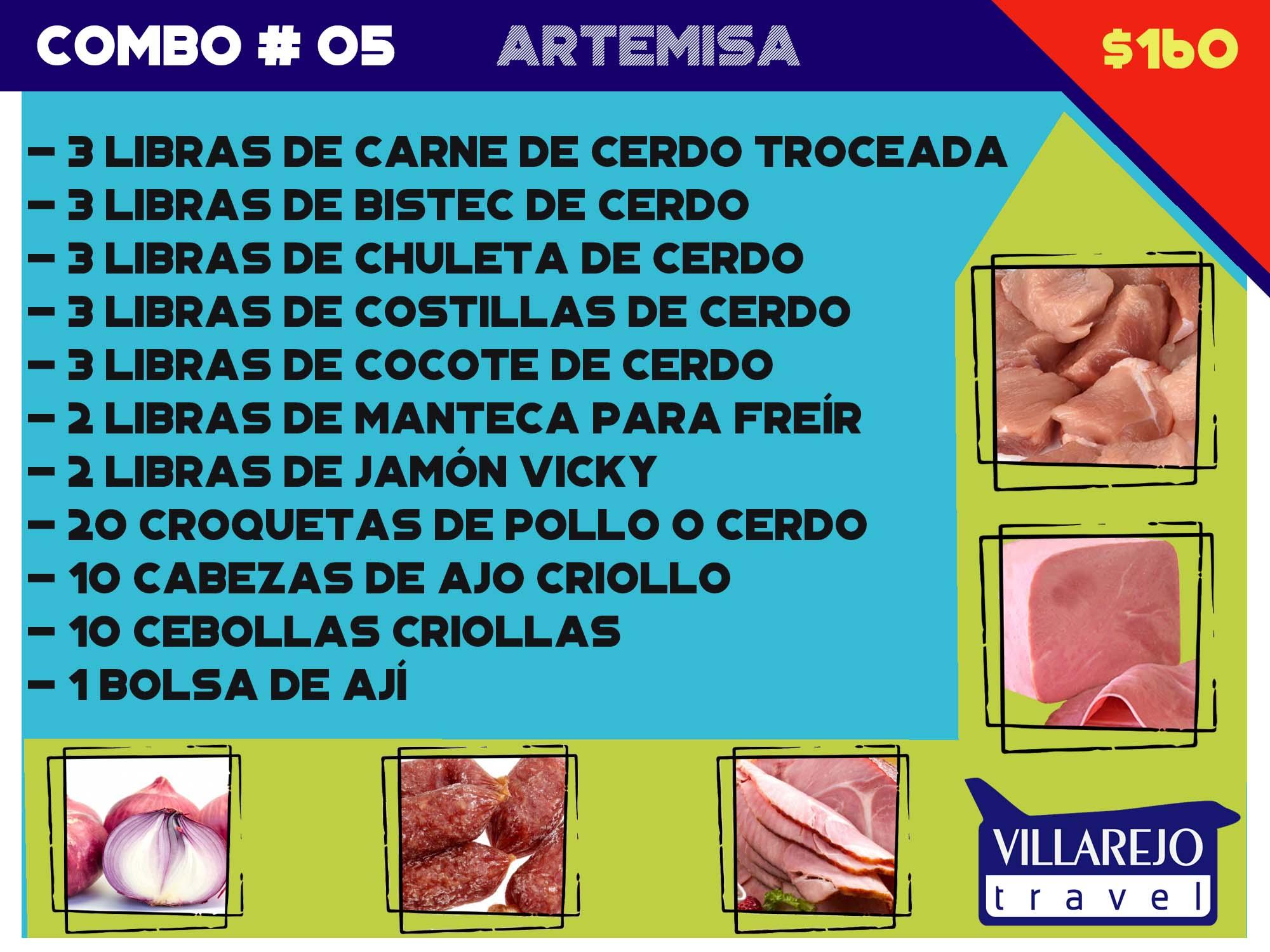 COMBO # 5 PARA LA PROVINCIA DE ARTEMISA  (cárnico)
