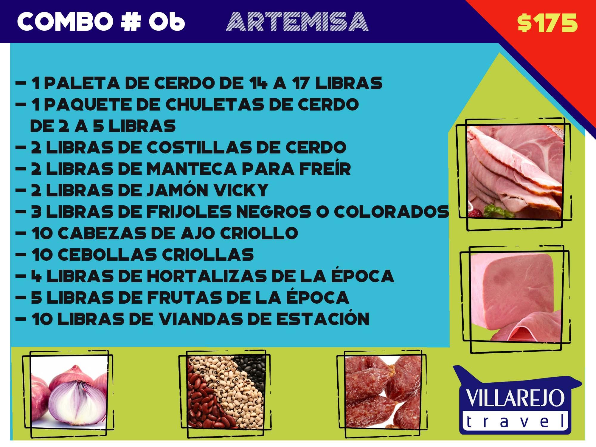 COMBO # 6 PARA LA PROVINCIA DE ARTEMISA  (Paleta)