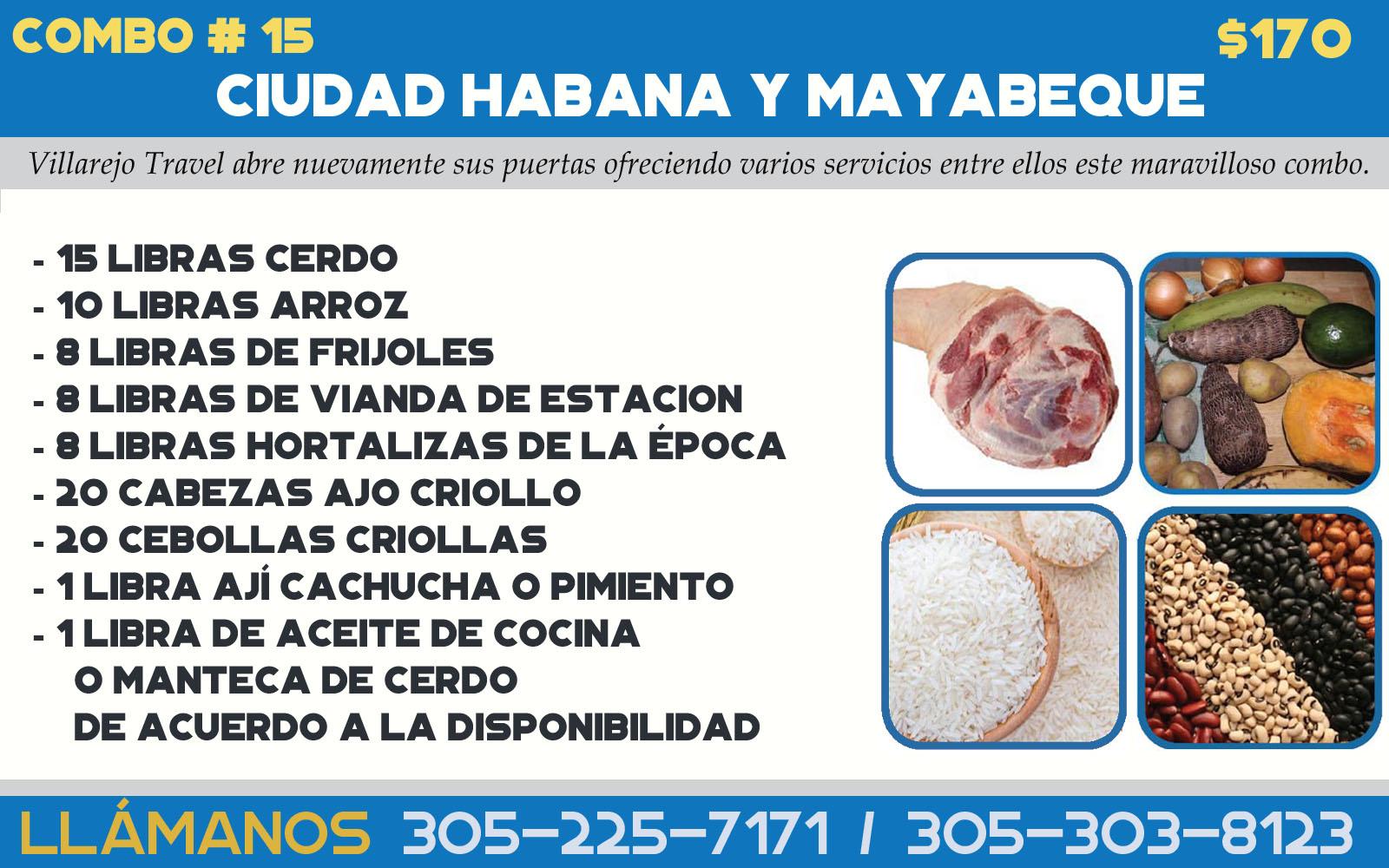 Combo #15 Habana, Mayabeque y Artemisa