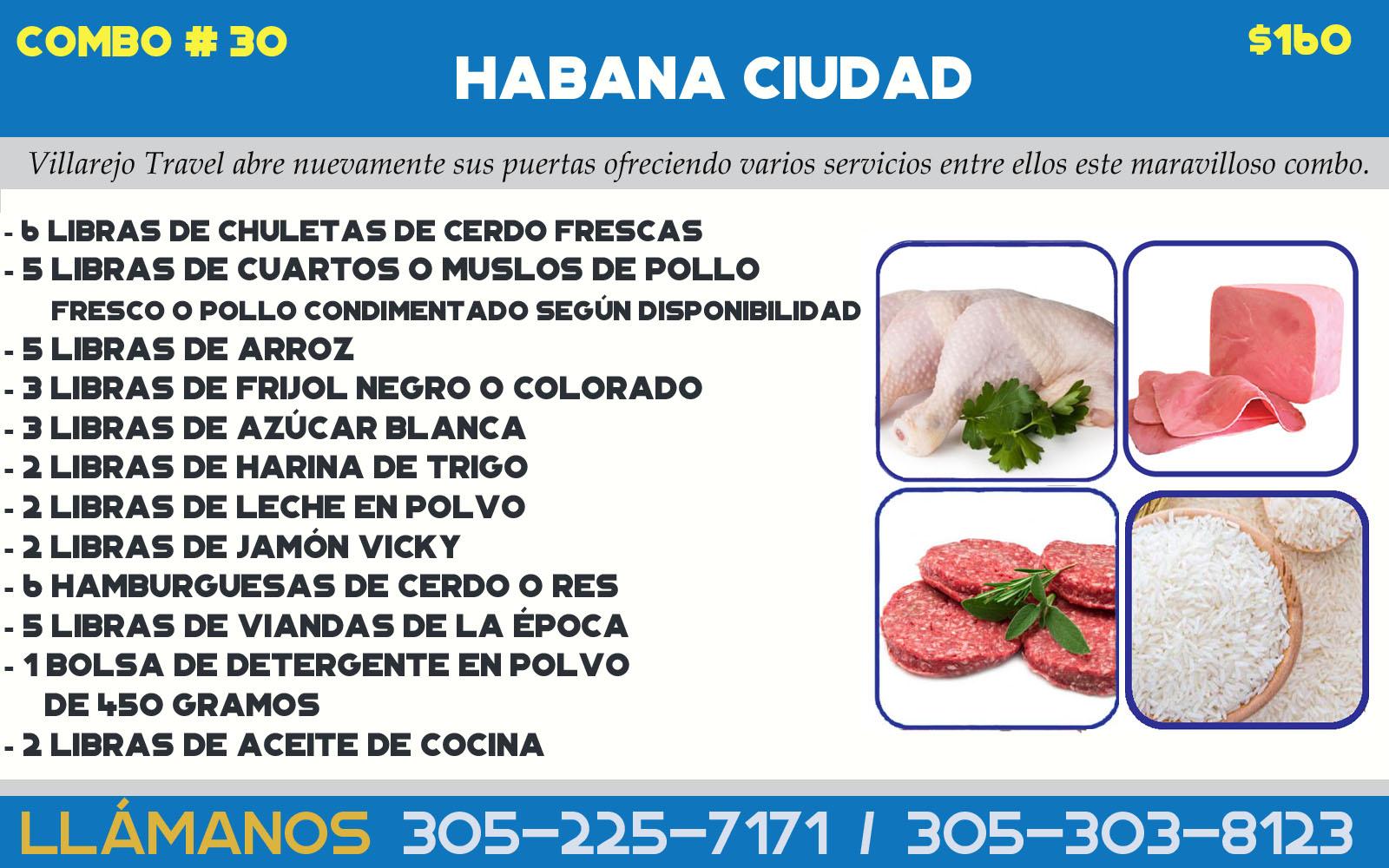 COMBO # 30 HABANA CIUDAD