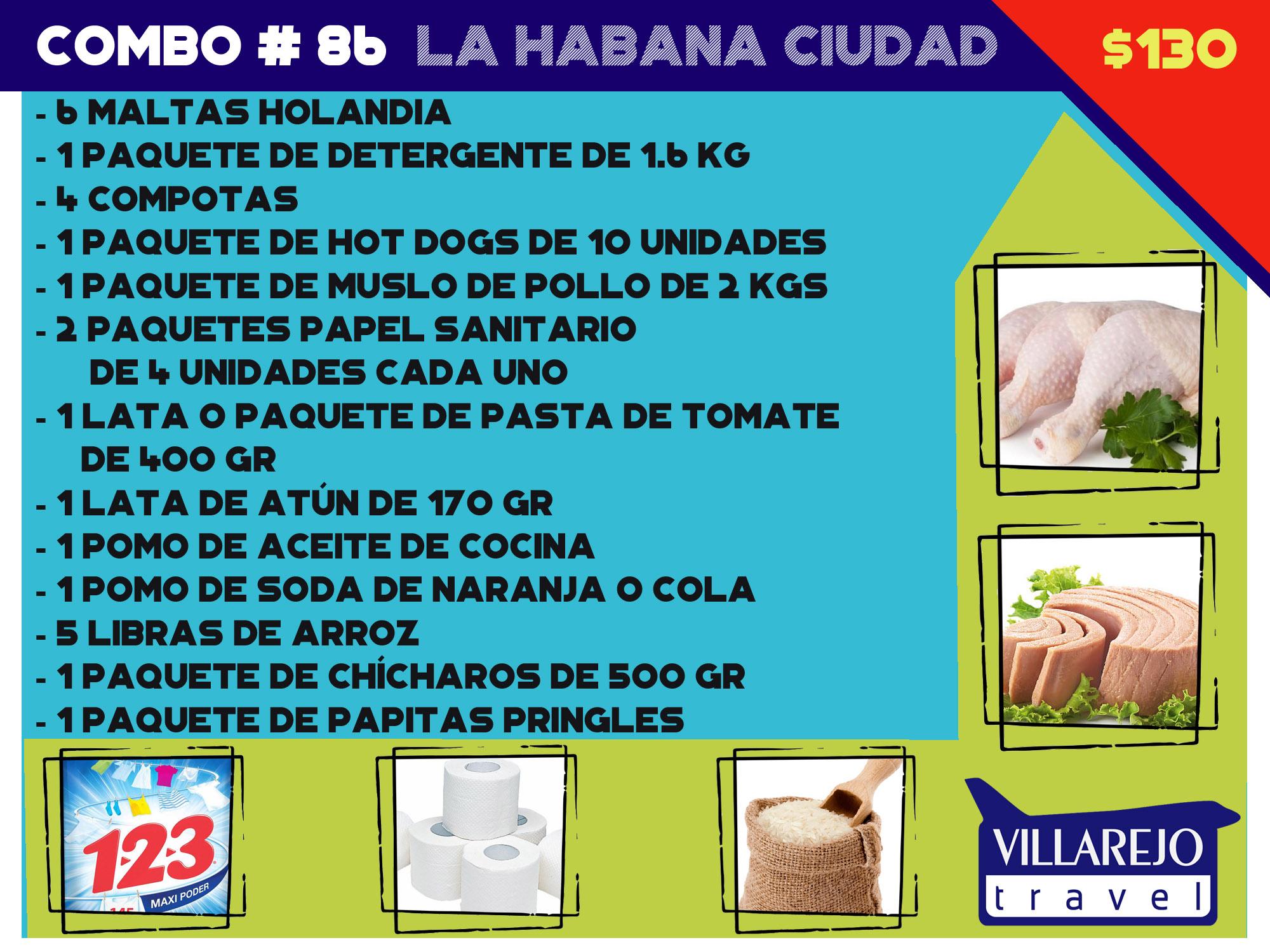 COMBO # 86 PARA LA HABANA CIUDAD