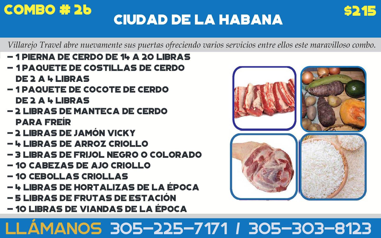 COMBO # 26 CIUDAD DE LA HABANA (Pierna)
