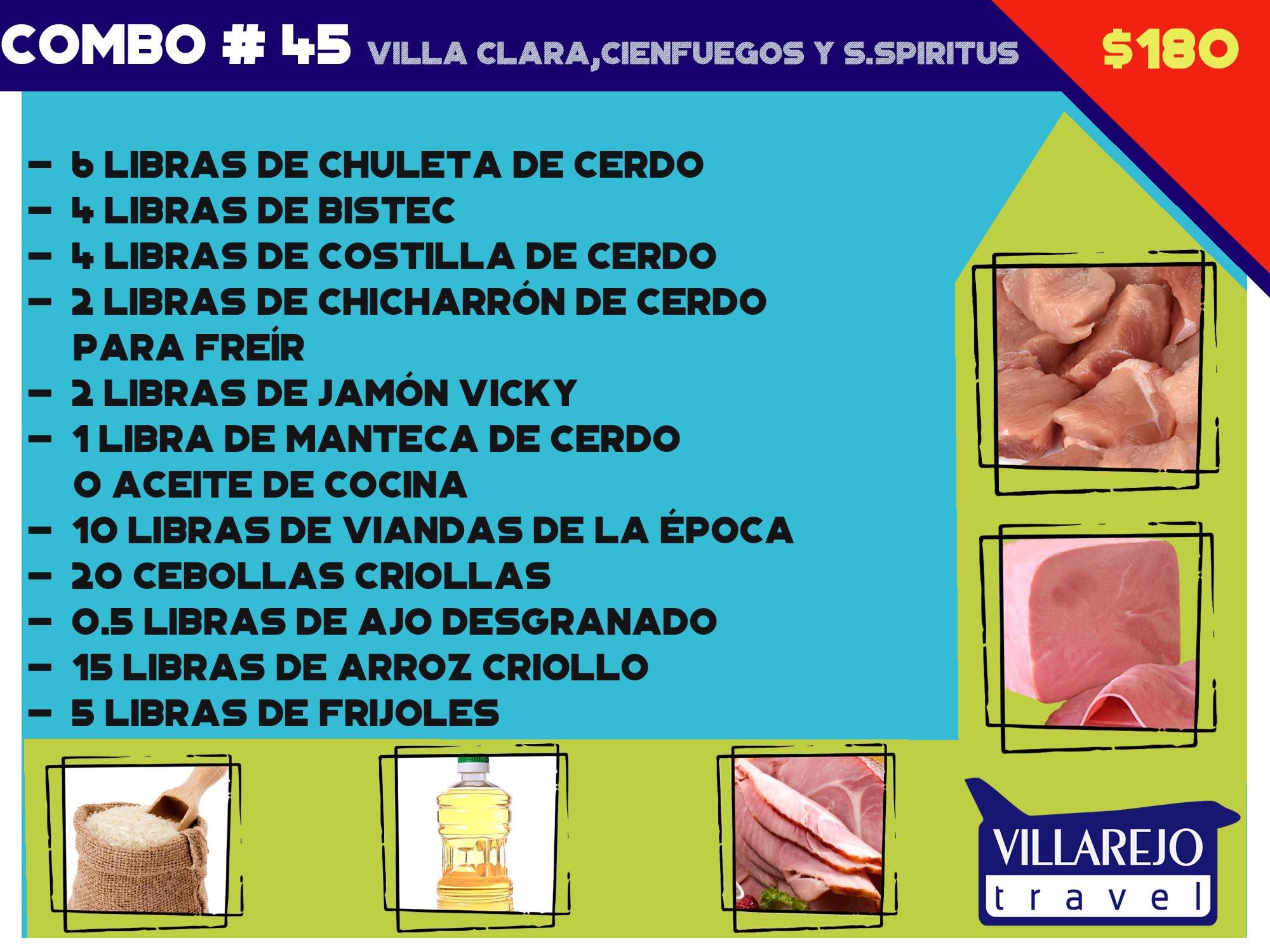 COMBO # 45 VILLA CLARA,CIENFUEGOS Y S.SPIRITUS