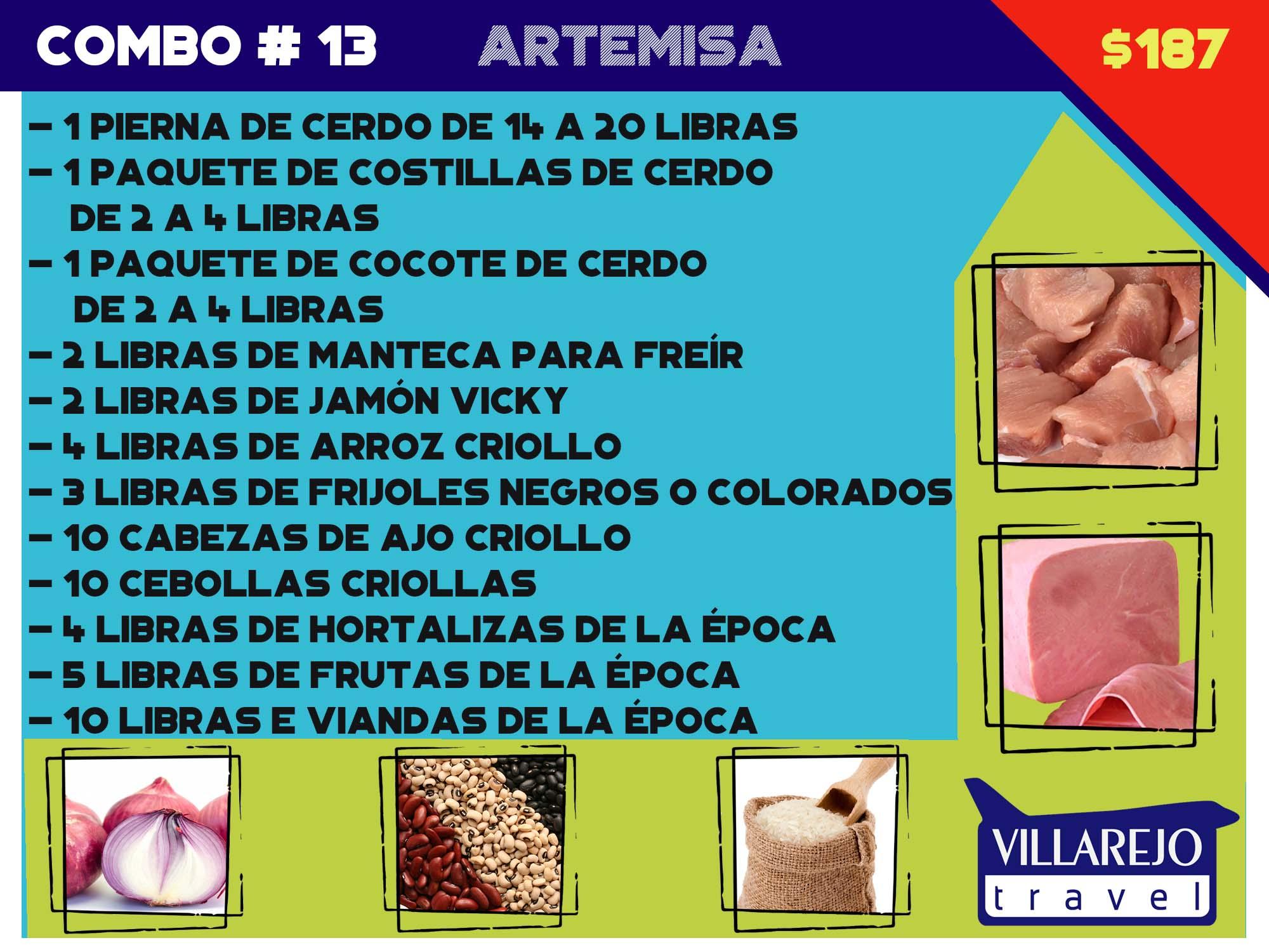 COMBO # 13 PROVINCIA DE ARTEMISA (Pierna)