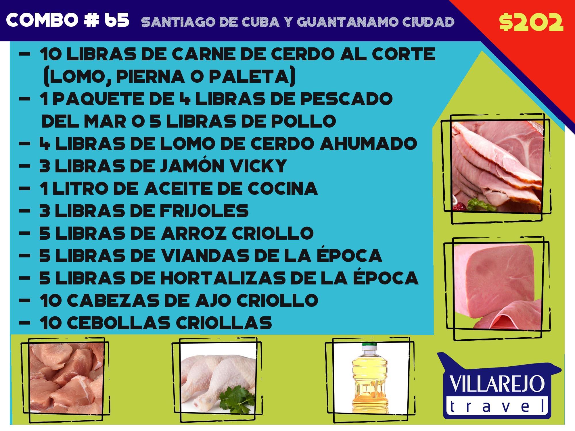 COMBO # 65 SANTIAGO DE CUBA Y GUANTANAMO CIUDAD