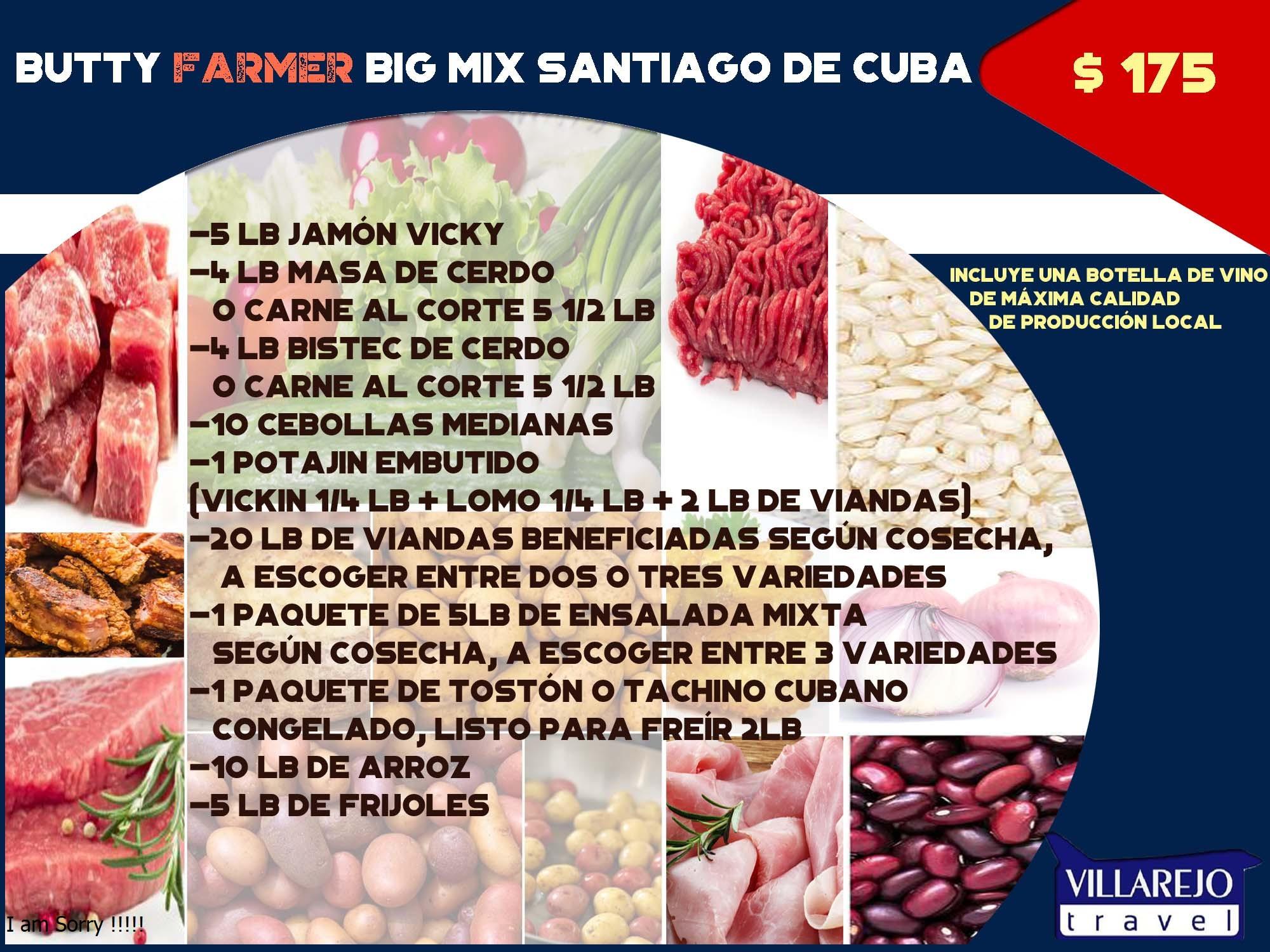 COMBO #1 Butty Farmer Big Mix Santiago de Cuba