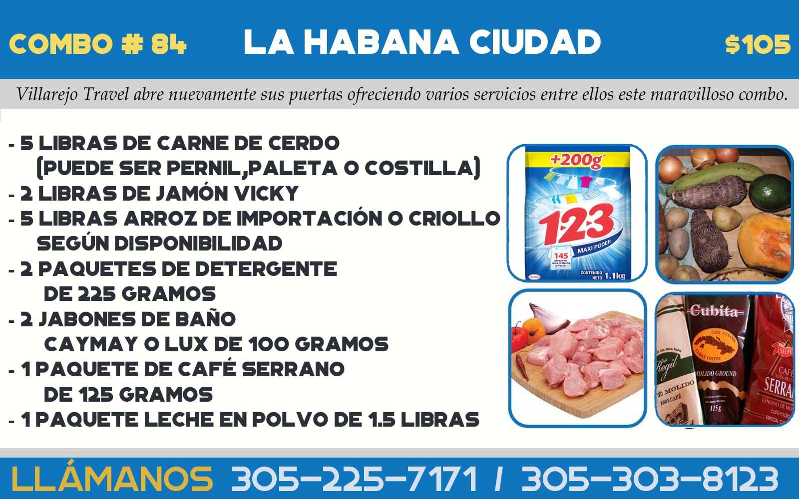 COMBO # 84 LA HABANA CIUDAD
