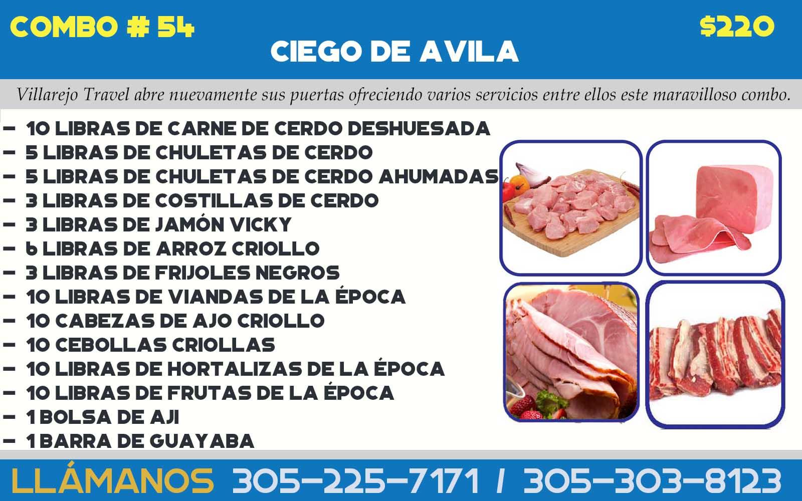 COMBO # 54 PROVINCIA DE CIEGO DE AVILA