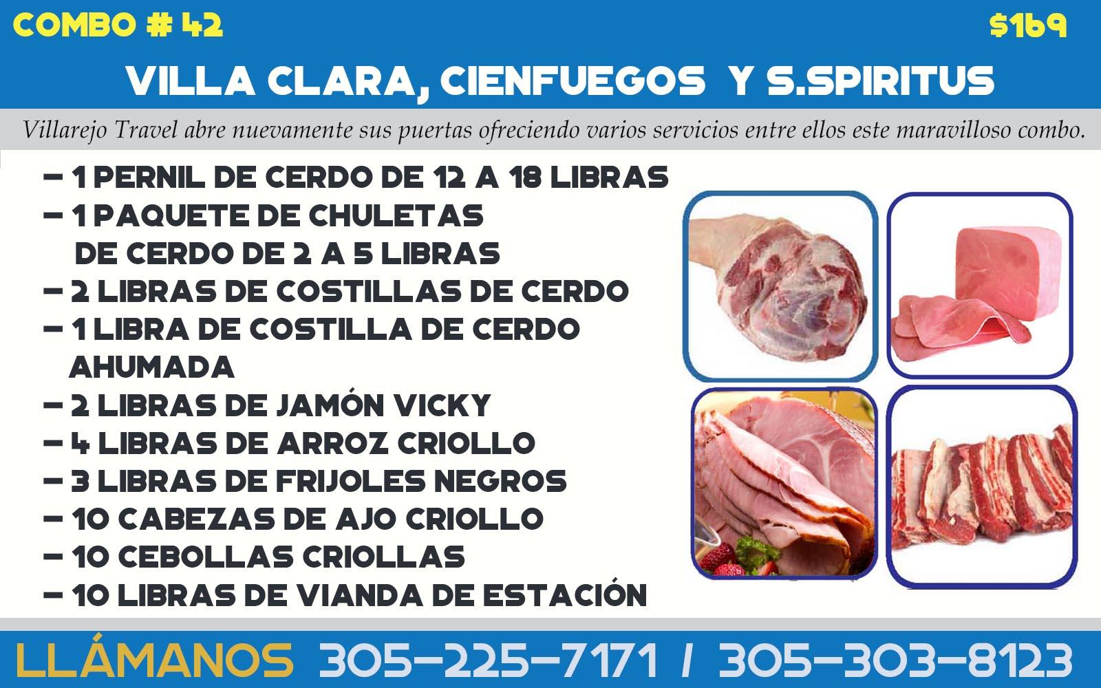 COMBO # 42 VILLA CLARA, CIENFUEGOS Y S.SPIRITUS (Combinado)