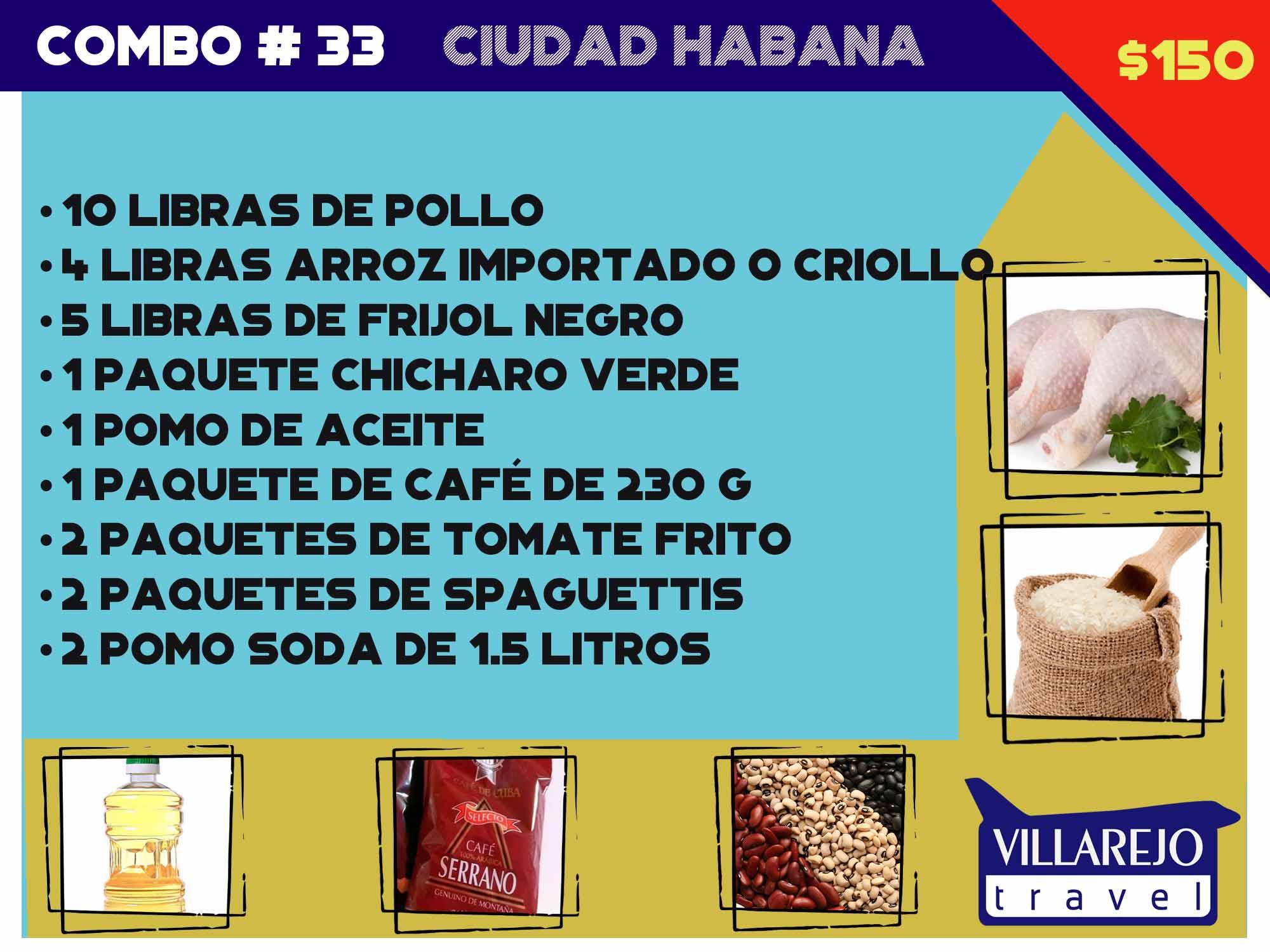 COMBO # 33 CIUDAD HABANA