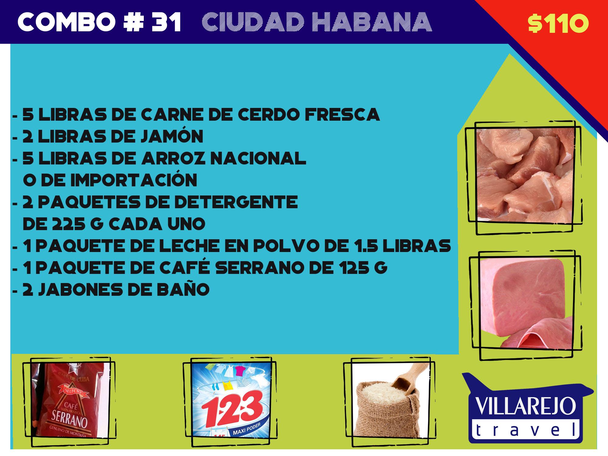 COMBO # 31  CIUDAD HABANA