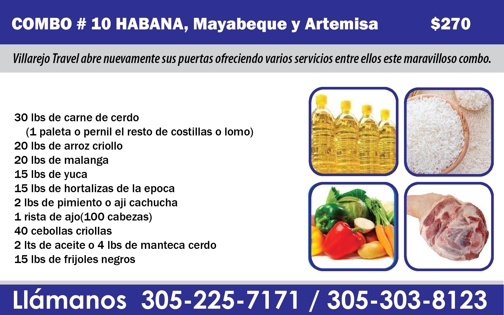 Combo #10 Habana ciudad , Mayabeque, artemisa