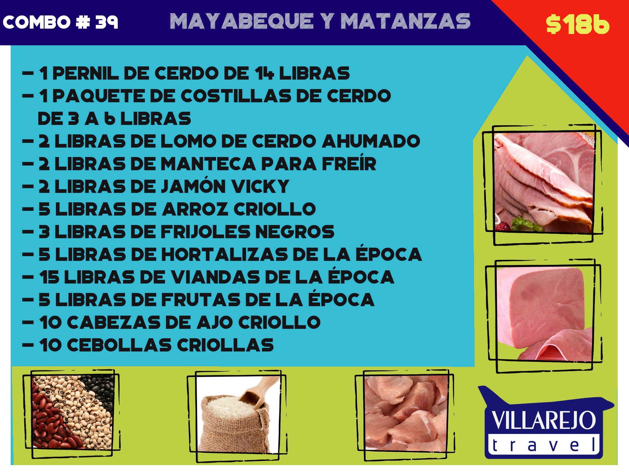 COMBO # 39 MAYABEQUE Y MATANZAS
