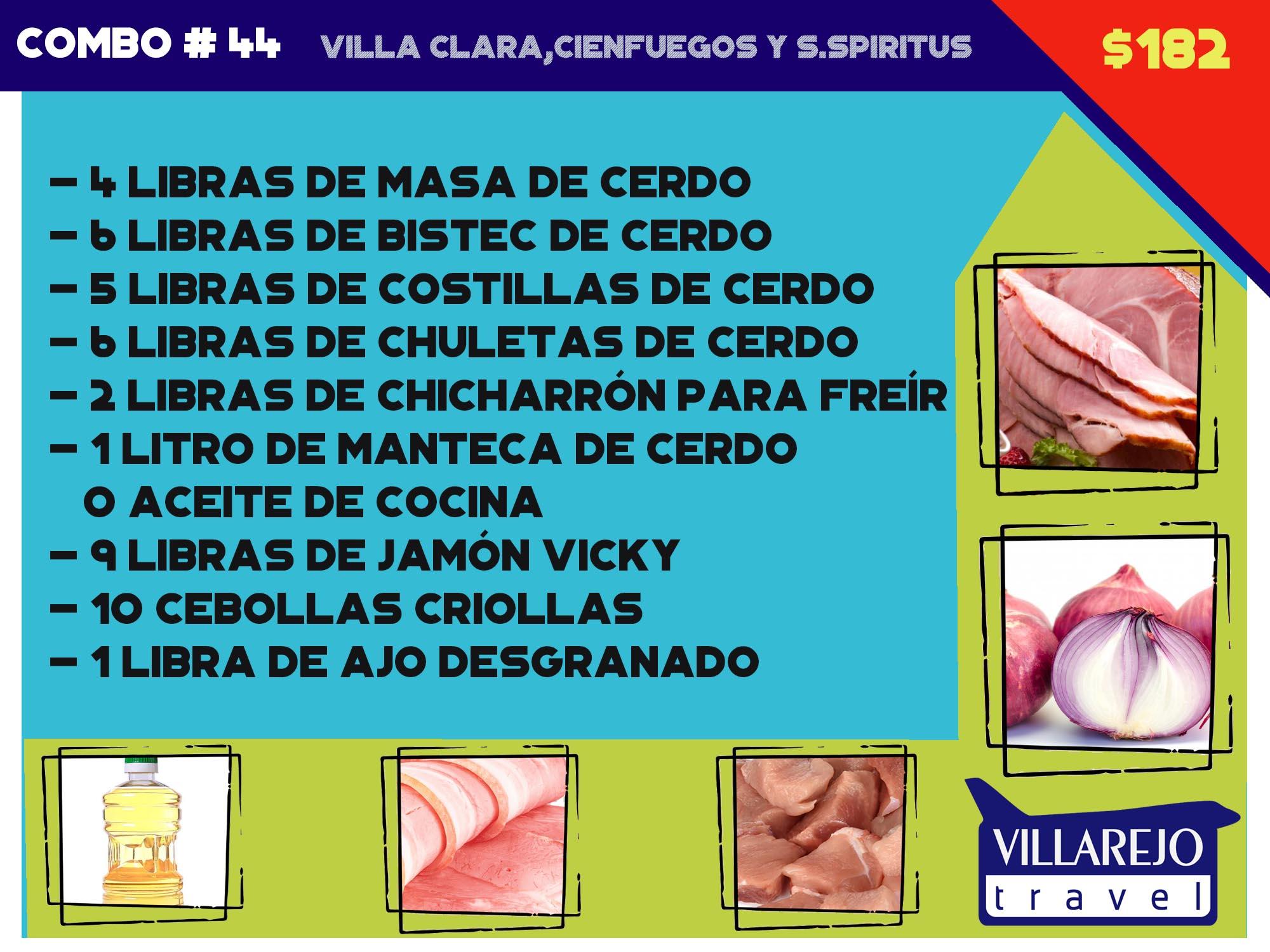 COMBO # 44 VILLA CLARA,CIENFUEGOS Y S.SPIRITUS