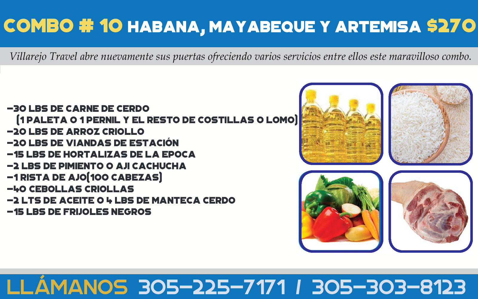 Combo #10 Habana ciudad , Mayabeque y Artemisa