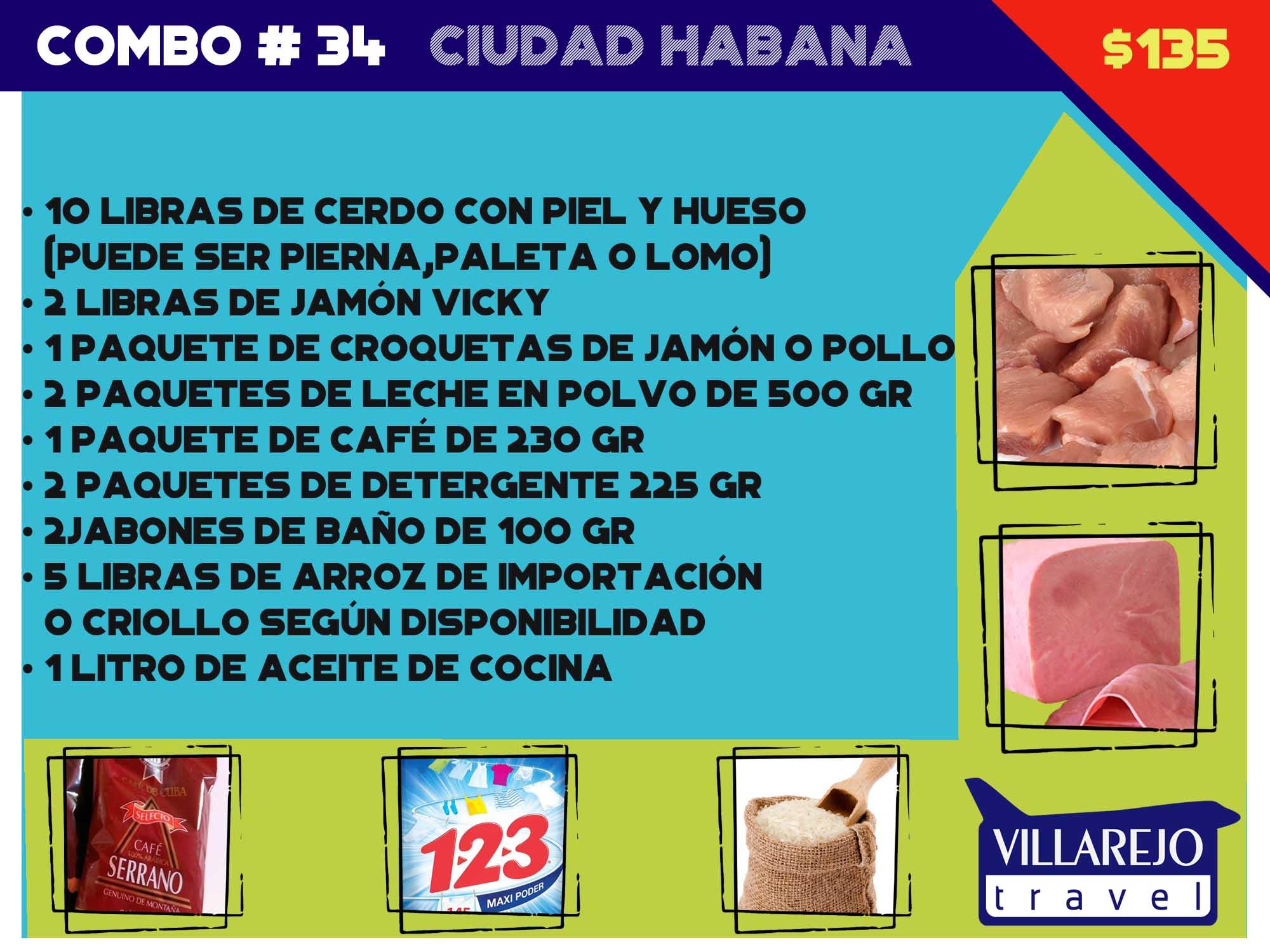 COMBO # 34  CIUDAD LA HABANA