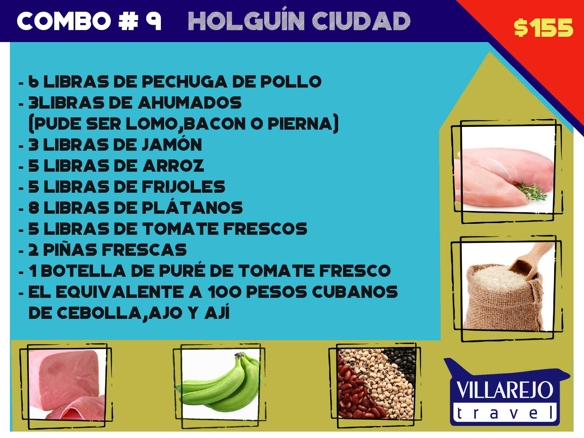 COMBO # 9 PARA HOLGUÍN CIUDAD
