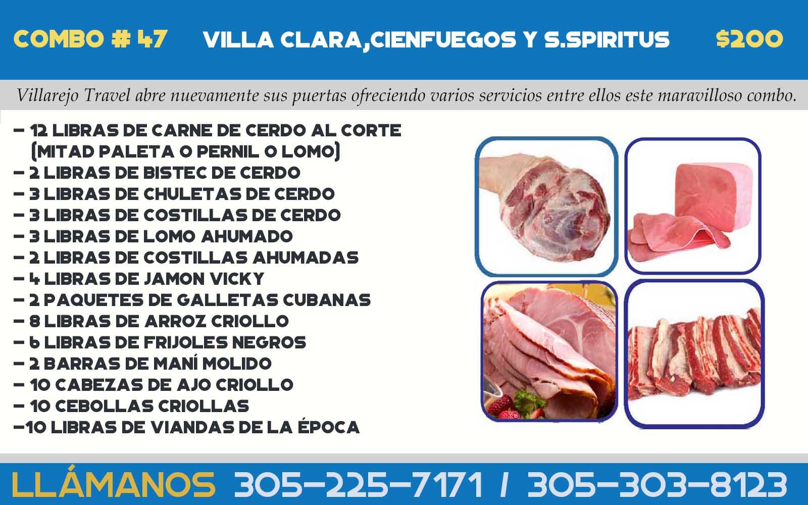 COMBO # 47 VILLA CLARA,CIENFUEGOS Y S.SPIRITUS