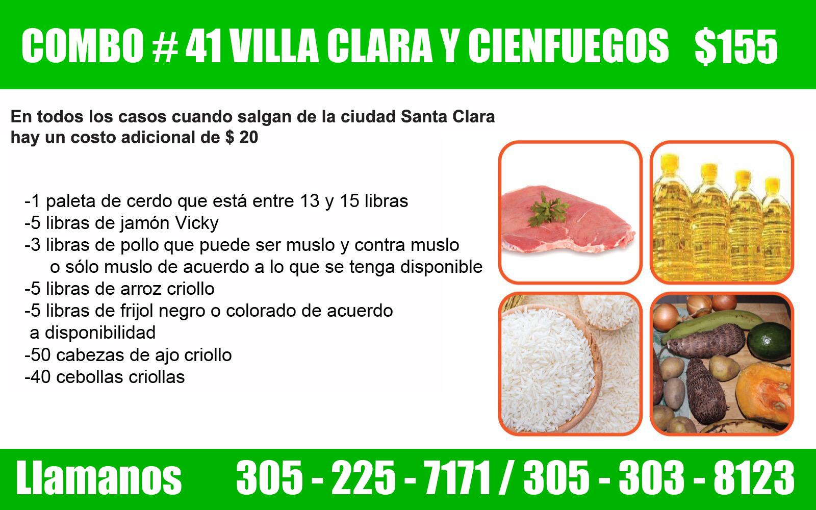 COMBO # 41 VILLA CLARA Y CIENFUEGOS $ 155