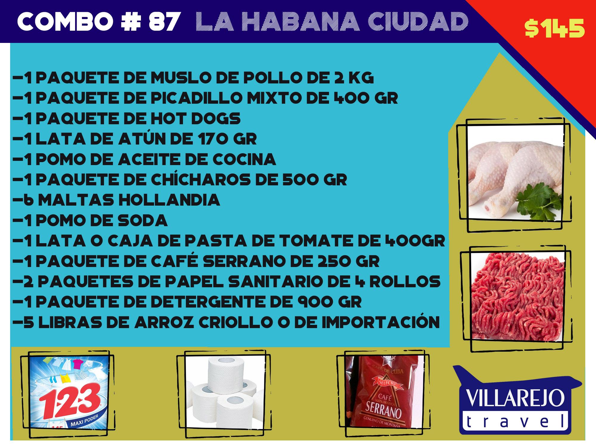COMBO # 87  LA HABANA CIUDAD