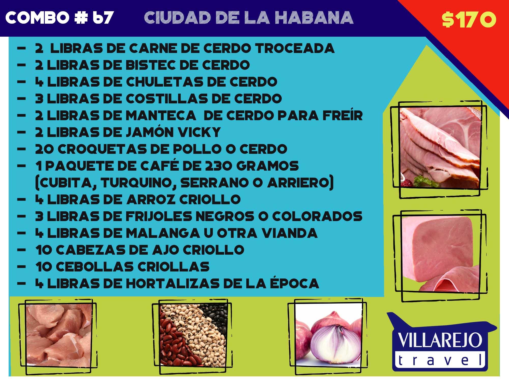 COMBO # 67 CIUDAD DE LA HABANA