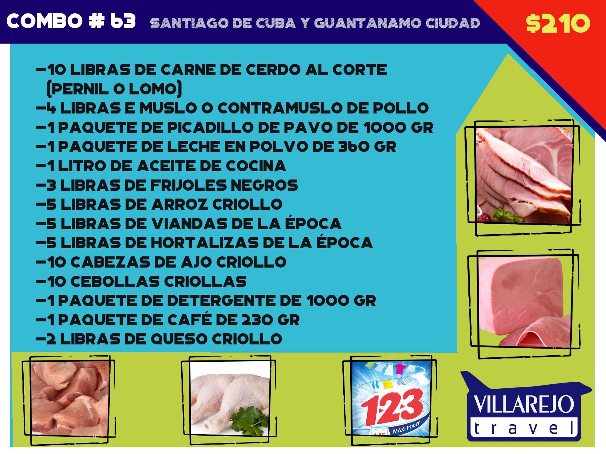 COMBO # 63 SANTIAGO DE CUBA Y CIUDAD GUANTANAMO