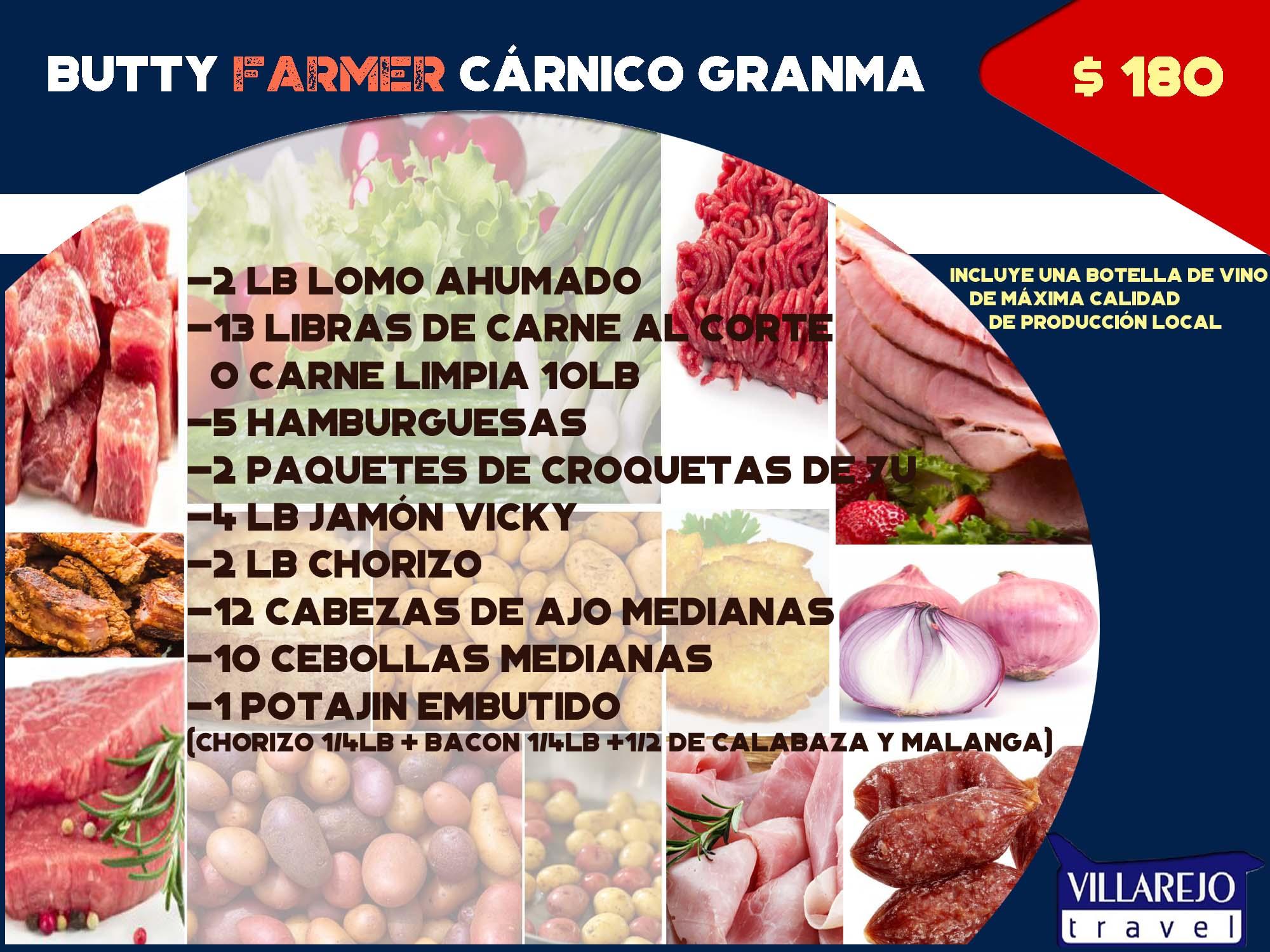 COMBO # 14 Butty Farmer Cárnico Granma