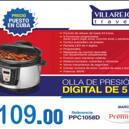 Olla de presión digital de 5 L marca Premium