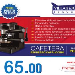 Cafetera Espresso Cappuccino marca Premium