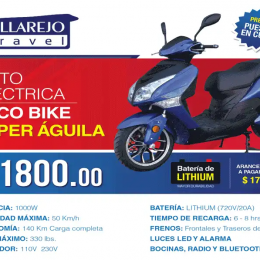 Moto Eléctrica Ecco Bike Super Eagle 2018 (Lithium)