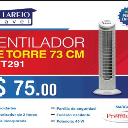 Ventilador de torre 73 cm marca Premium